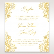 Imperial Glamour with Foil reception stationery invite card design