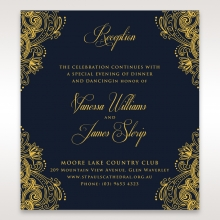 Imperial Glamour with Foil reception stationery