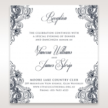 Imperial Glamour without Foil reception stationery card