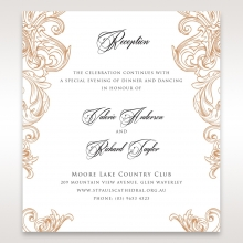 Imperial Pocket reception enclosure stationery invite card design