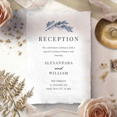 Indigo Round reception invite card