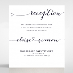 Infinity reception stationery card