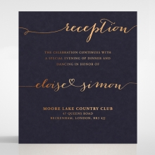 Infinity reception enclosure stationery invite card design