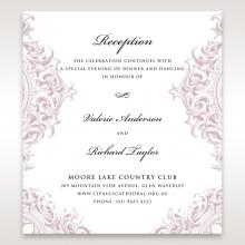 Jewelled Elegance wedding reception card