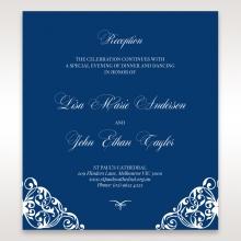 Jewelled Navy Half Pocket wedding stationery reception invitation card design