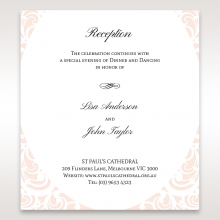 Laser cut Bliss wedding reception enclosure invite card design