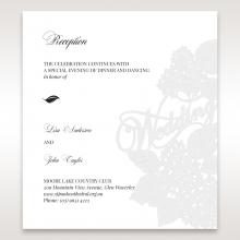 Laser Cut Floral Wedding reception wedding card design