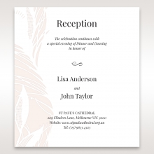 Laser cut Peacock Feather reception invitation card design