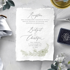 Love Estate reception card