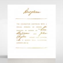 Love Letter wedding reception invitation