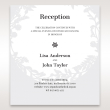 Luscious Forest Laser Cut reception enclosure invite card