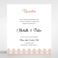 Luxe Rhapsody reception invitation
