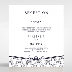 Luxe Victorian wedding stationery reception enclosure card design