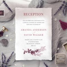 Magenta Wed wedding reception card