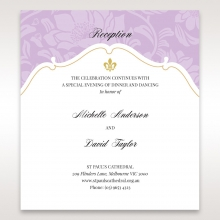 Majestic Gold Floral wedding reception invite