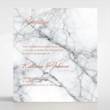 Marble Minimalist wedding stationery reception enclosure invite card design
