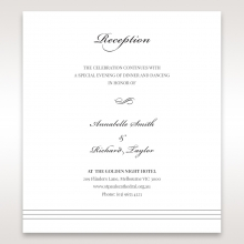 Marital Harmony wedding stationery reception enclosure card