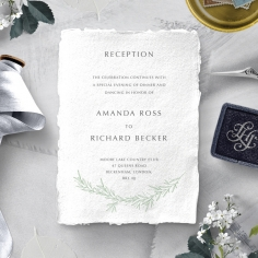 Minimalist Wreath wedding stationery reception invitation card