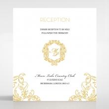 Modern Crest reception enclosure invite card design