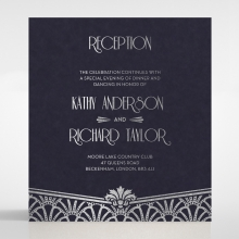 Modern Deco reception invite