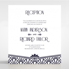 Modern Deco wedding stationery reception invite card