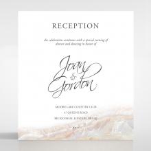 Moonstone wedding reception invitation card design