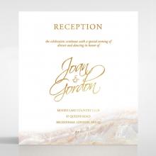Moonstone wedding reception invite