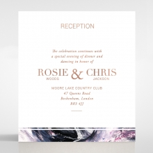 Mulberry Mozaic  with Foil wedding reception enclosure invite card design