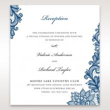Noble Elegance reception enclosure stationery invite card