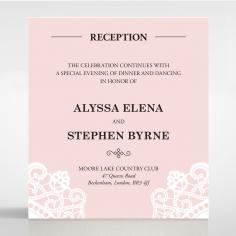 Oriental Charm reception invite card design