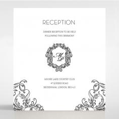 Paper Aristocrat wedding reception card design