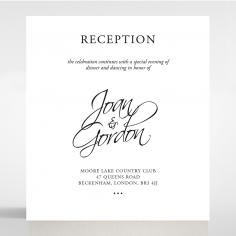 Paper Diamond Drapery wedding reception card