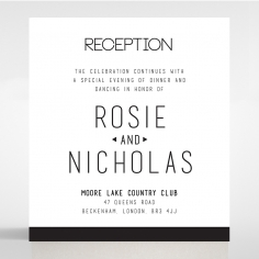 Paper Minimalist Love reception enclosure stationery card design
