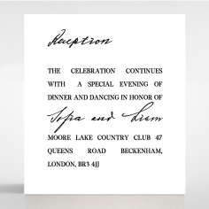 Paper Modern Romance reception enclosure invite card design
