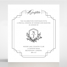 Paper Regal Enchantment reception stationery invite card