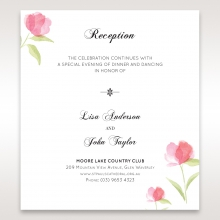 Petal Perfection reception stationery card design