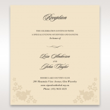 Precious Pearl Pocket reception invite card