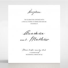 Pure Charm wedding stationery reception enclosure invite card design
