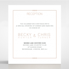 Quilted Grace wedding reception invite card
