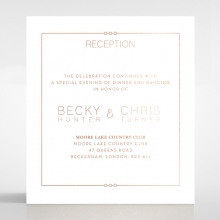 Quilted Grace wedding reception enclosure card