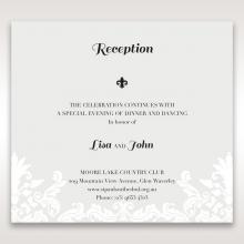 Regal Romance wedding stationery reception invite card design