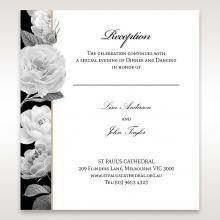 Rose Gold Flowers wedding reception invite
