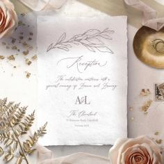 Royal Crest reception invitation card design