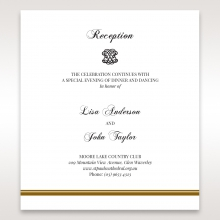 Royal Elegance reception invite card design