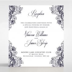 Royal Embrace reception wedding card design