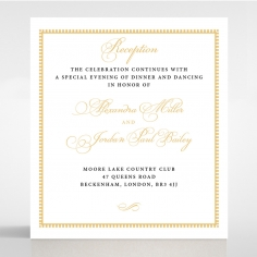 Royal Lace wedding reception card