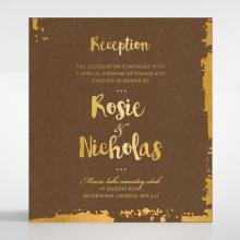 Rusted Charm wedding stationery reception enclosure card design