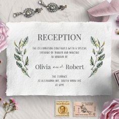 Rustic Affair reception stationery invite