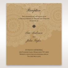 Rustic Charm reception stationery invite card design