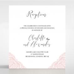 Rustic Elegance wedding stationery reception invitation card design
